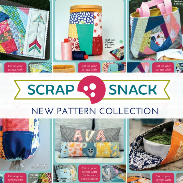 Have you seen the new Scrap Snack pattern collection in your local quilt shop yet? This new collection offers bite size patterns that are perfect for scraps