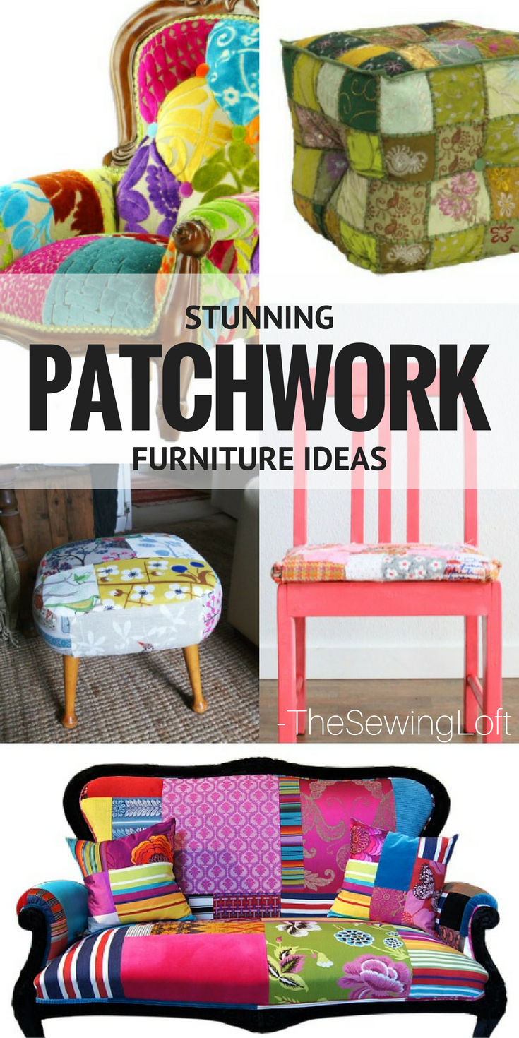 Turn everyday furniture into showstoppers with these creative ideas for patchwork furniture.