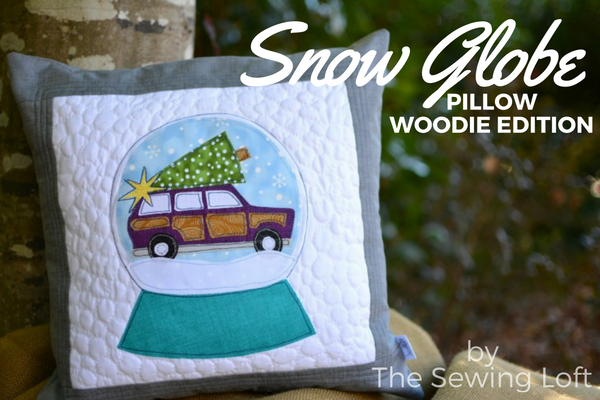 Snow globe applique design the sewing loft