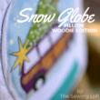 Snow Globe Applique Pillow Woodie Edition