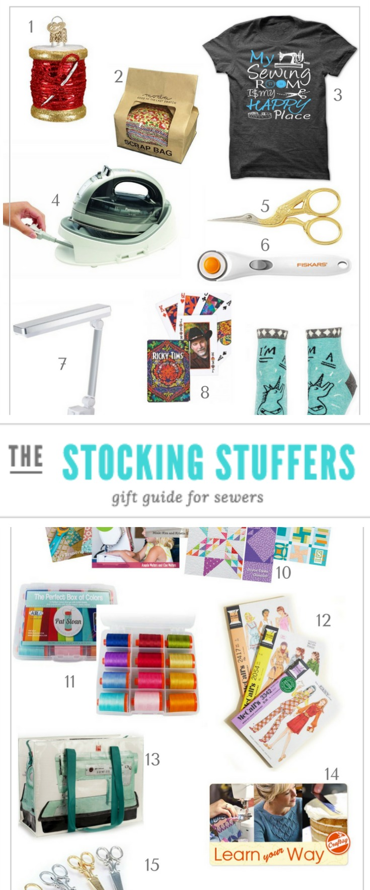 Give the perfect gift to your stitching friends this season with these sewing inspired stocking stuffers that won't break the bank. .