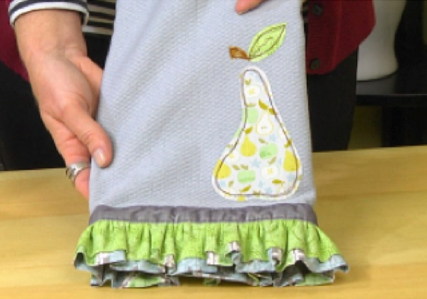 Personalize your space with an easy to sew DIY dish towel. Project is perfect for beginners.