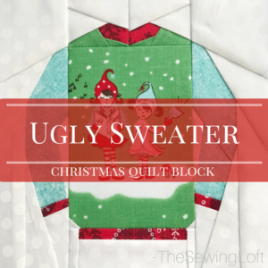 Ugly Christmas Sweater Quilt Block