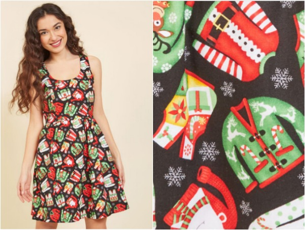 Take the traditional Ugly Christmas Sweater party to the next level with this sassy dress.