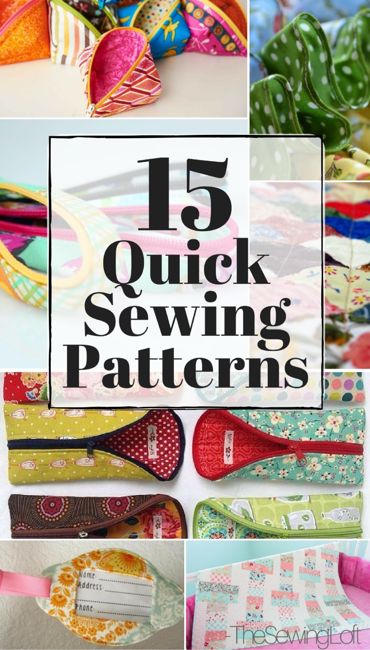 Quick Sewing Patterns | Easy To Make - The Sewing Loft