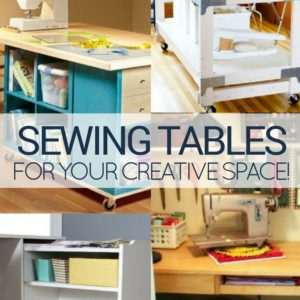 15 Inspiring Sewing Table Designs