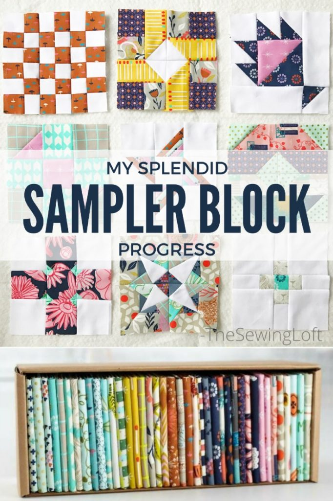 I'm using a my fat quarter bundle box of Cotton & steel to make my Splendid Sampler Block Set.