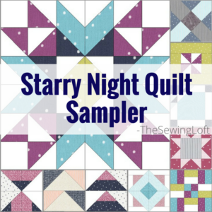 Starry Night Quilt Backing Details