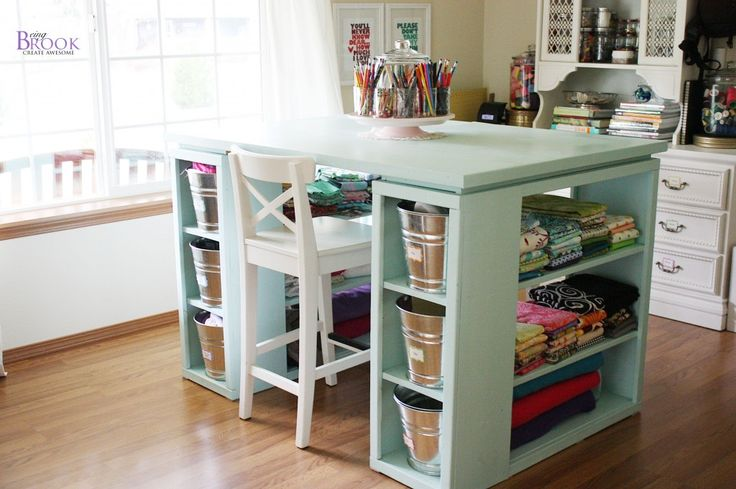 Another Craft Table With Storage