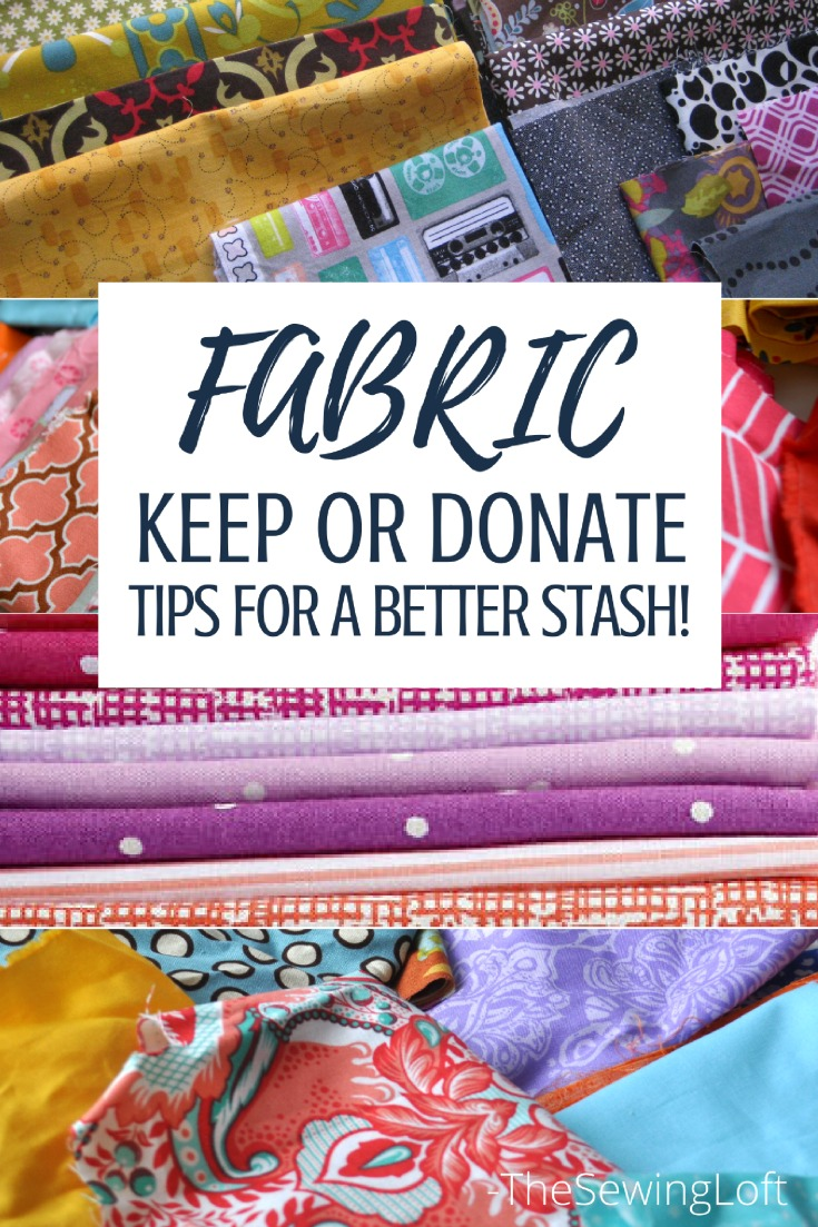 Keep your fabric pile in check with these tips for keeping and destashing. Trust me, your sewing space will thank you!