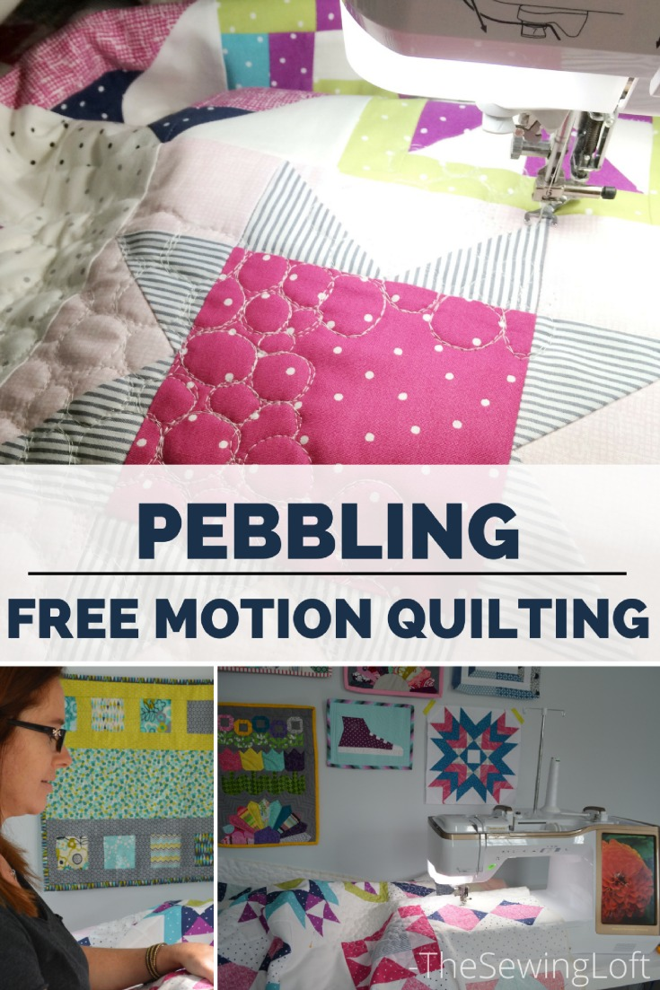 See how easy it is to create free motion pebbles to on your at home sewing machine in this video from The Sewing Loft.