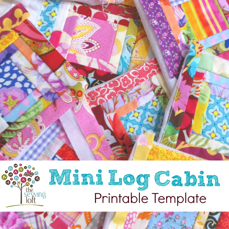 Mini Log Cabin Pattern Scrap Buster The Sewing Loft