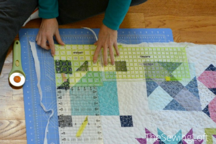 See how easy it is to make your quilt binding details pop from your scraps. Starry Night Quilt Sampler