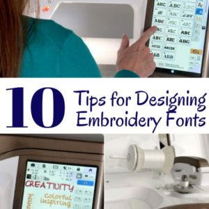 10 Embroidery Font Tips for Designing