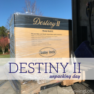 Sewing Machine Unpacking | Meet My Destiny II
