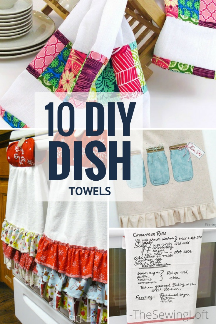 10 Awesome DIY Dish Towel Patterns