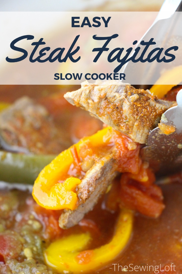 You can make this slow cooker steak fajitas recipe in 4 easy steps. This simple yet delicious crock-pot dish is perfect any day of the week.