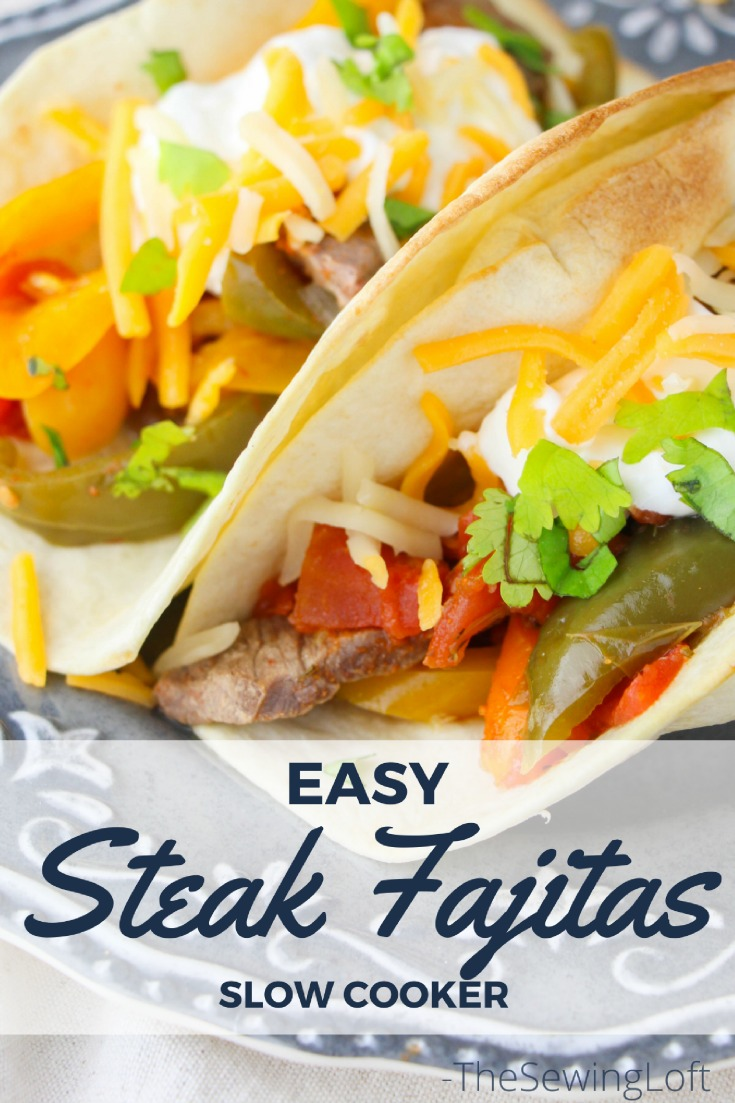 You can make this slow cooker steak fajitas recipe any day of the week. This easy yet delicious crock-pot dish is perfect for a stress free meal.
