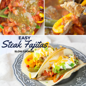 Slow Cooker Steak Fajitas | Simmer & Sew