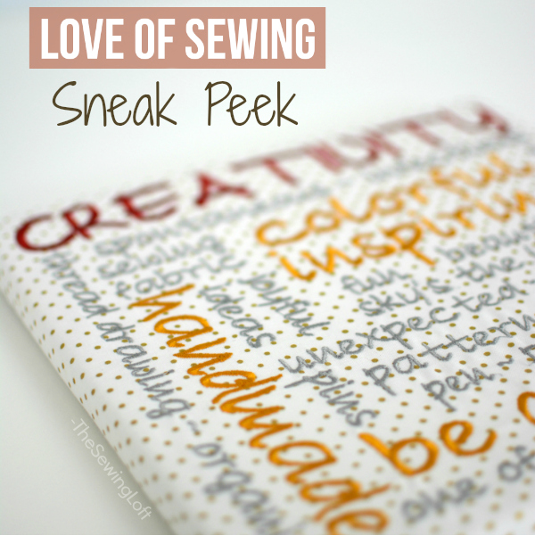 Gather your sewing supplies and let's make some embroidered subway art in The Love of Sewing Challenge