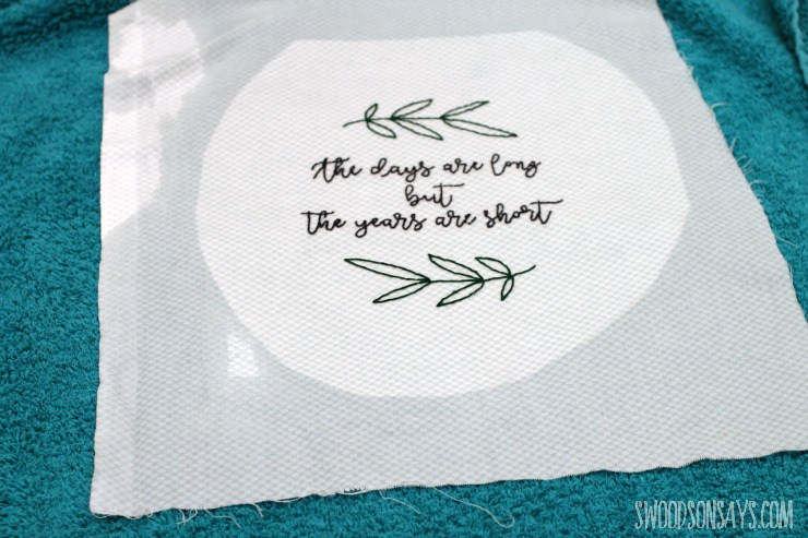 transferring embroidery patterns - a game changer