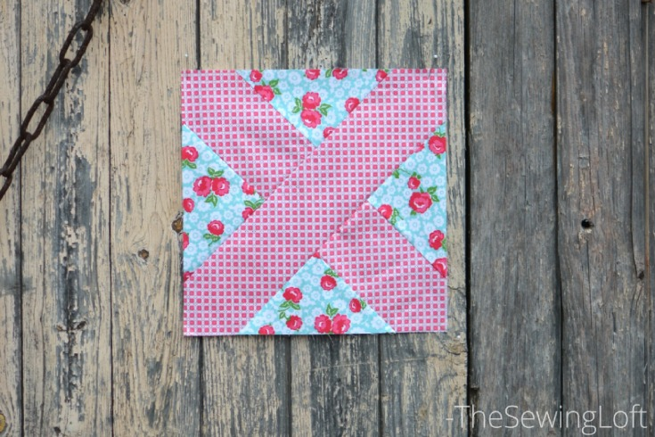 Breeze By blocks made from Dainty Darling fabric by Lindsay Wilkes.