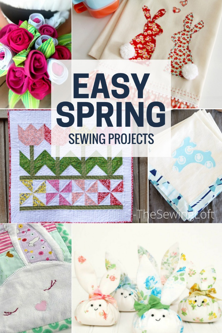 18 Easy Spring Sewing Projects to help you celebrate the the Easter holiday. They are easy to make and will help brighten up your space in style.