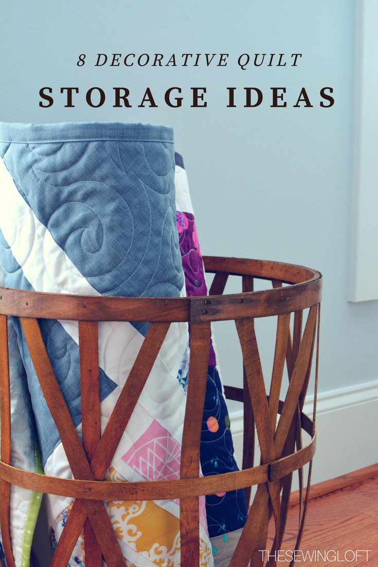 Don't hide your treasures away instead check out these cool quilt storage container ideas and use them to decorate your space.