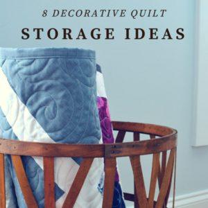 8 Decorative Quilt Storage Container