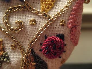 embroidery - spiral trellis stitch