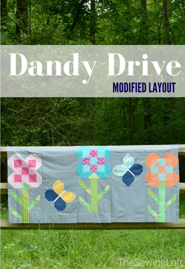 The Dandy Drive quilt pattern is easy to make and perfect for beginners. I turned mine into a bed covering instead of a full quilt.