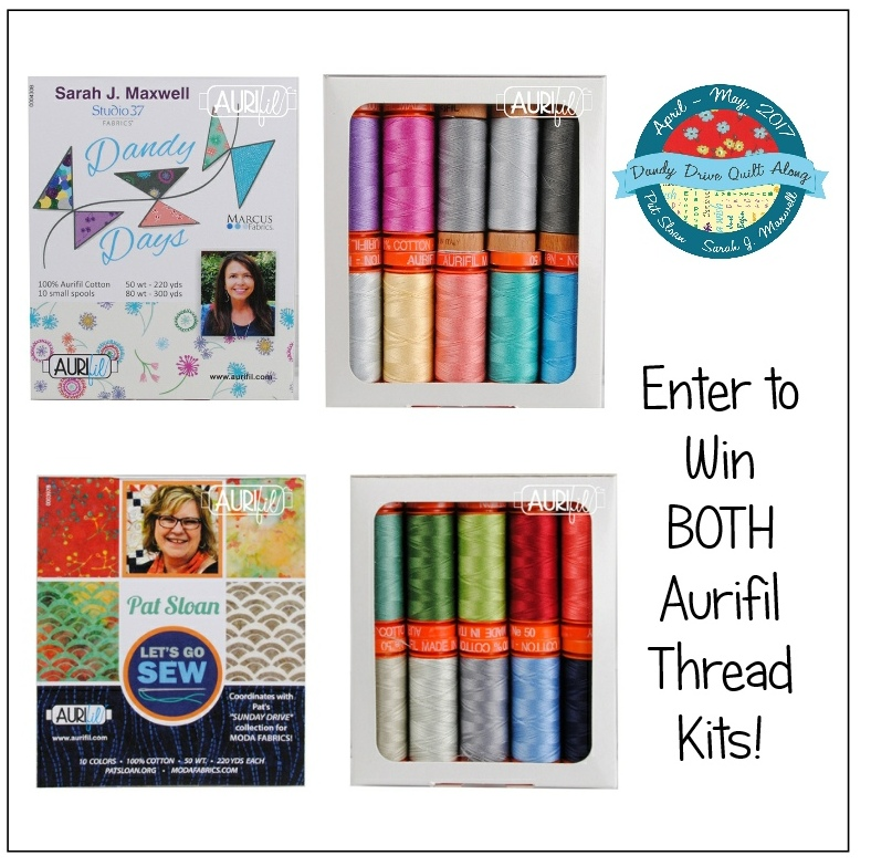 It's time to wrap up the latest project, show you my Dandy Drive finished quilt and tell you about another fabulous prize package up for grabs.
