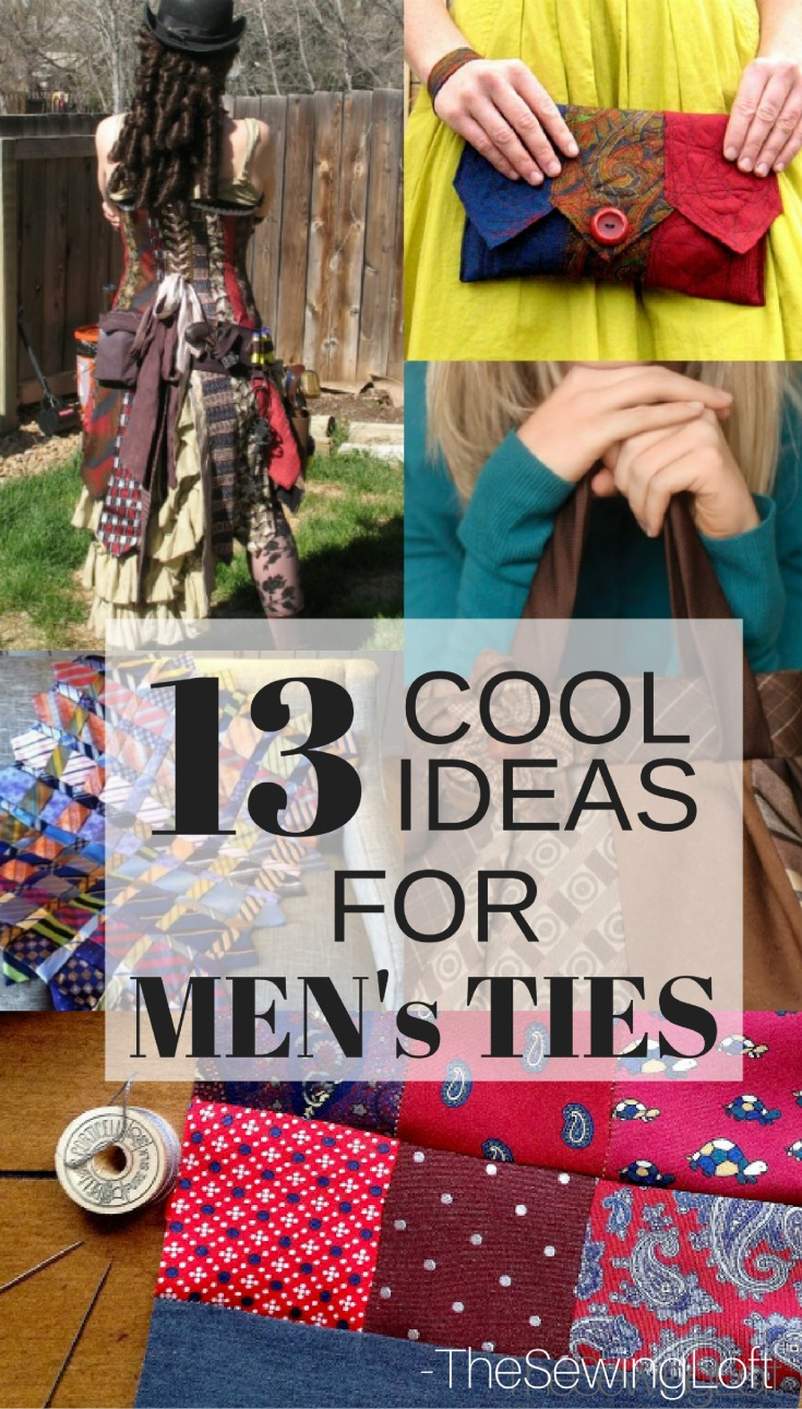 Grab a handful of men's ties because these creative projects are so inspiring, easy to make and super fashionable to use over and over again!