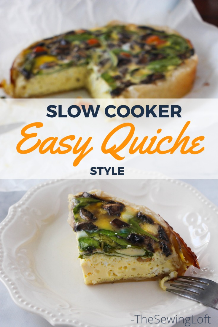 Puff pastry never tasted so good!! Pull out the slow cooker and get ready to reclaim your time back with my latest slow cooker easy quiche recipe.