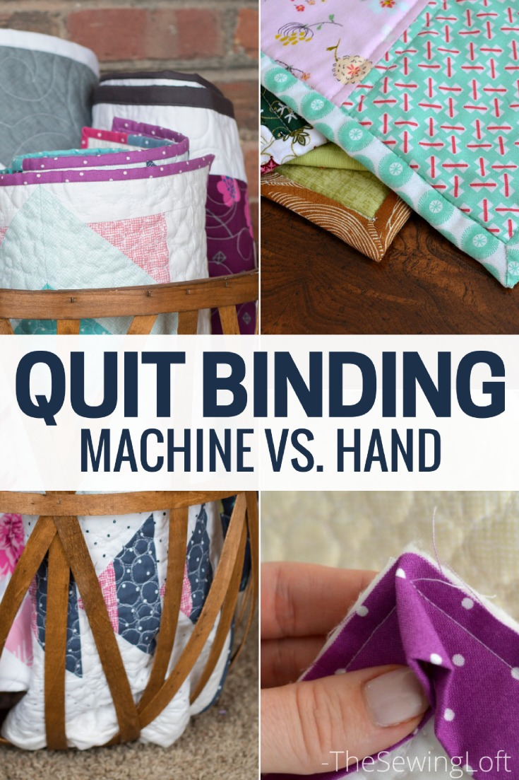 Machine Quilt Binding vs. Hand Stitching - The Sewing Loft : binding a quilt by hand - Adamdwight.com