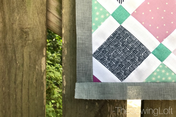 Expand your quilting knowledge while making something fun with the Quiltologie Urban Trellis mini quilt. Includes video how to for simple setting technique.