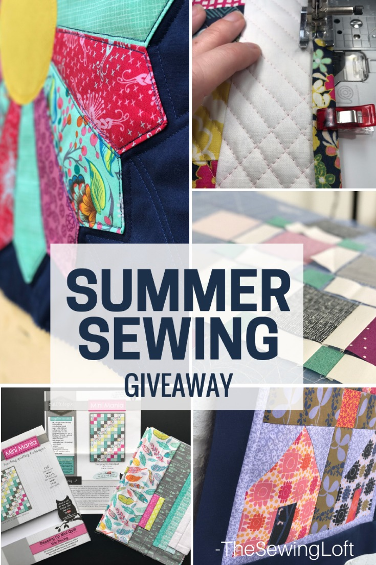 The dog days of summer are here and I need a pick me up for my summer sewing, These mini quilt kits are perfect. Enter to win a set of 3 here.