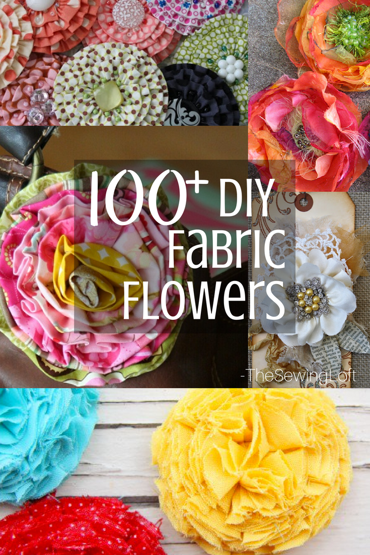100 diy fabric flower patterns you can make the sewing loft 100 diy fabric flower patterns for you to make at home patterns are easy jeuxipadfo Choice Image