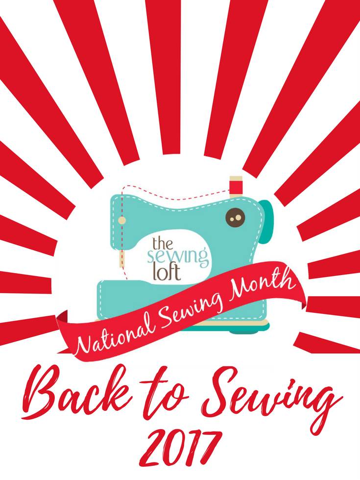 There is no better time to start sewing than during National Sewing Month and The Sewing Loft wants to help. Check out all the fun project ideas, tips and don't forget that giveaway.