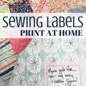 Make Printable Sewing Labels For Your Work