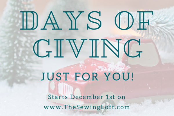 Days of Giving - 12 Days of Giveaways