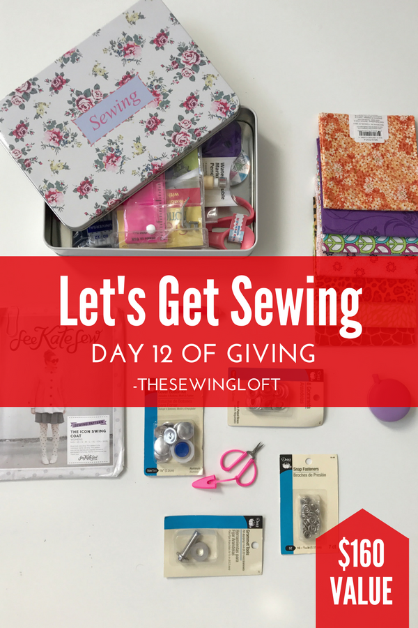 No excuses.... let's get sewing! This giveaway is packed with sewing inspiration. Be sure to see all of the prize packages being offered during The Sewing Loft's 12 Days of Giving. Over $1200 in prizes.