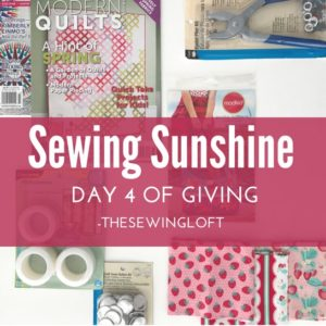 'Tis the season and it is better to give than receive. Today's giveaway gift is packed with sewing inspiration. Be sure to see all of the prize packages being offered during The Sewing Loft's 12 Days of Giving. Over $1200 in prizes.