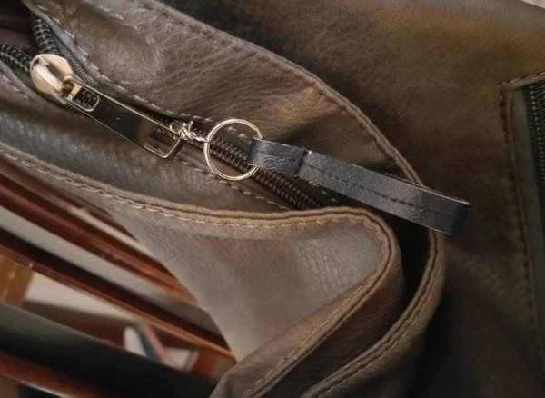 Simple leather zipper pull tab DIY