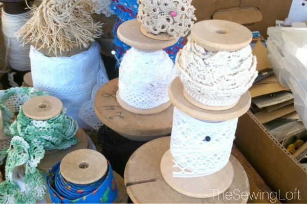 Spools of Vintage Trim