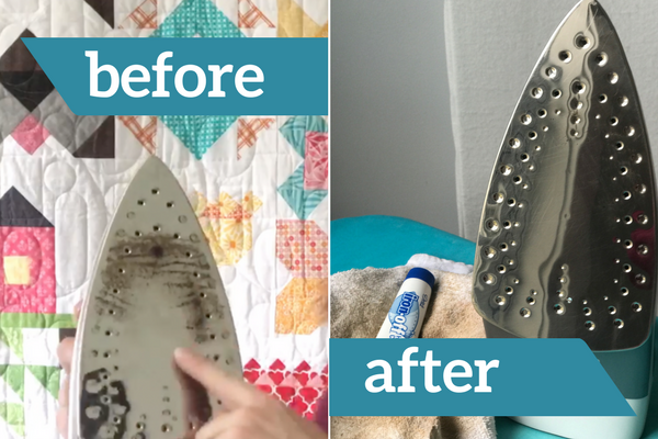 Learn how to clean your dirty iron with this video. No scrubbing required!