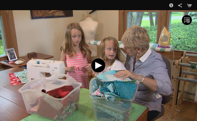 Watch Nancy Zieman sew with her grandchildren in this I Sew for Fun video.