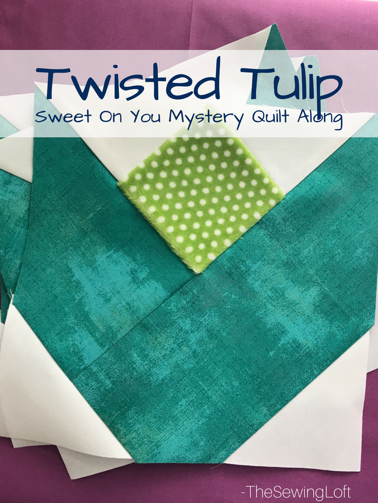 "Twisted Tulip | 9"" Finished Quilt Block"