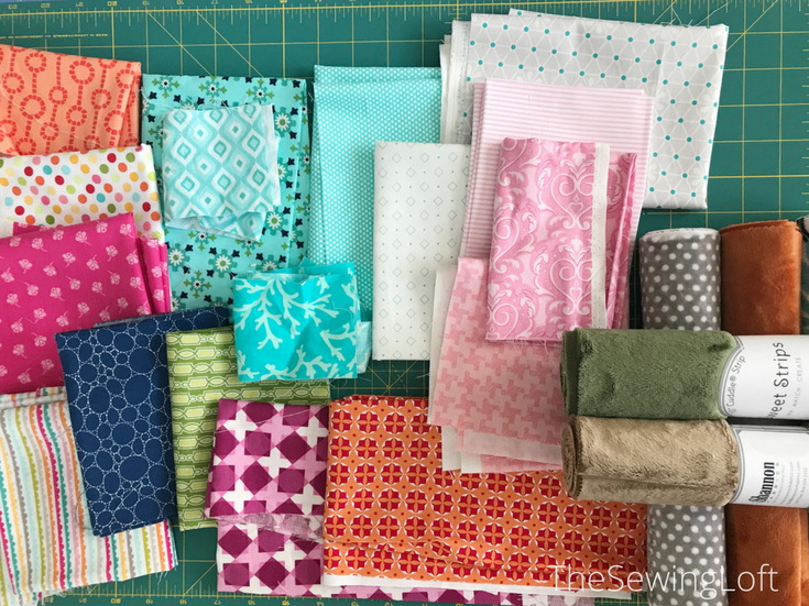 Fabric pull for Checkerboard block | Sweet On You mystery quilt.
