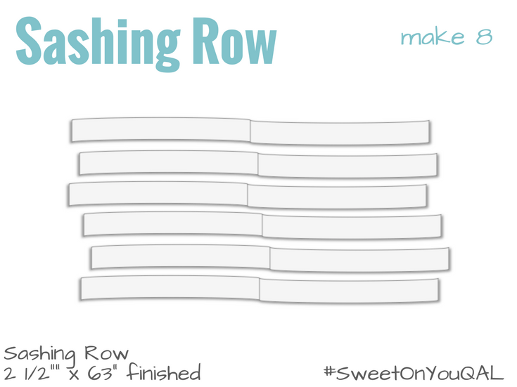 Sashing Row Details | Sweet On You Quilt